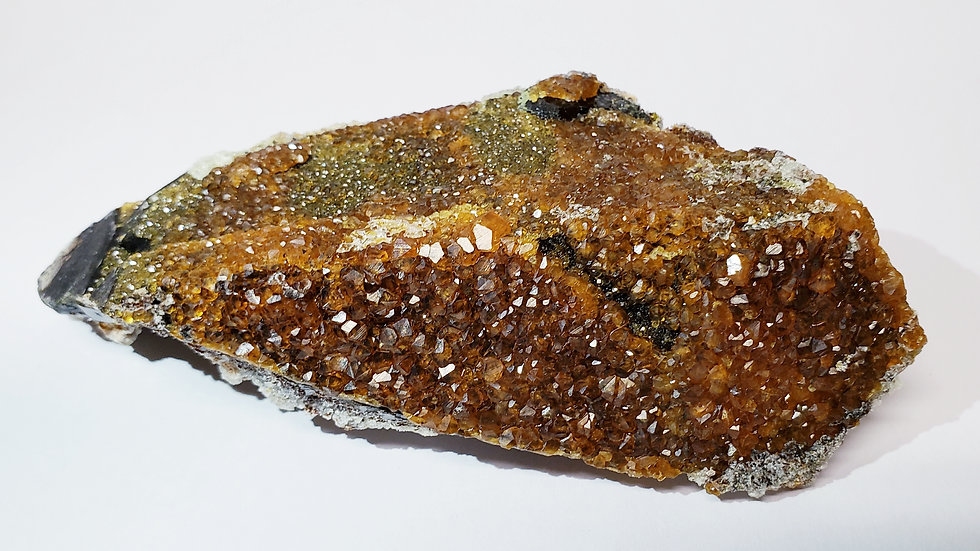Collector's Piece: Spessartine Garnet on Smoky Quartz from Wushan Mine, China