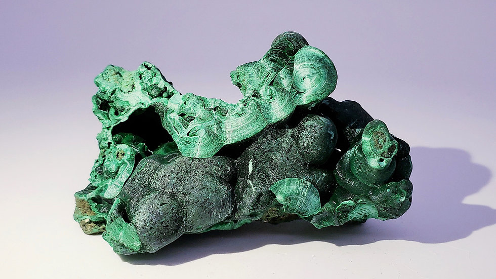 Botryoidal Malachite from Mashamba Mine, Congo