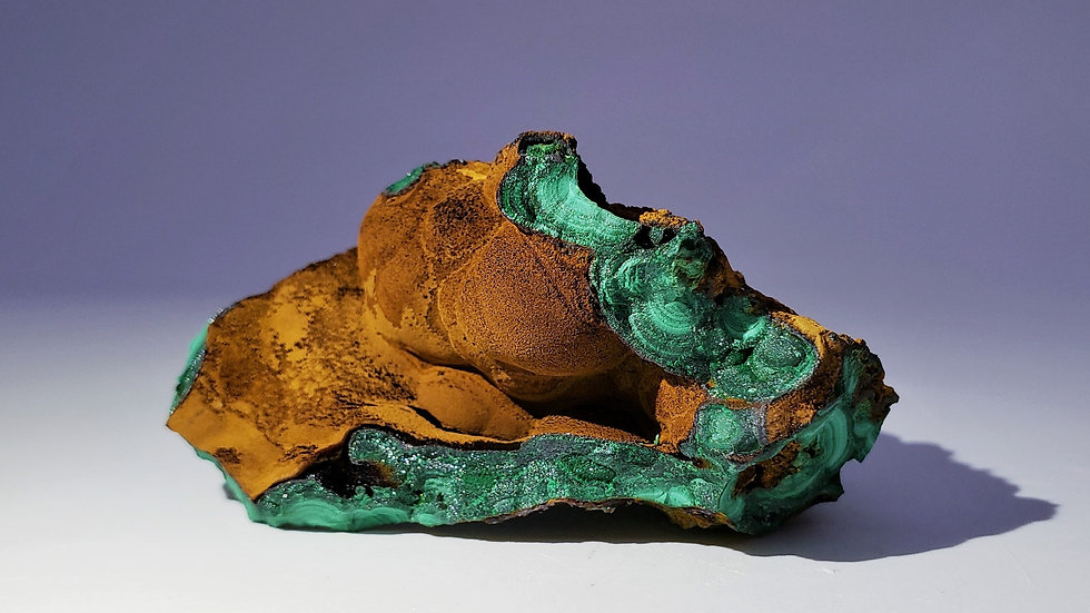 Goethite on Malachite from Sepon Mine, Laos