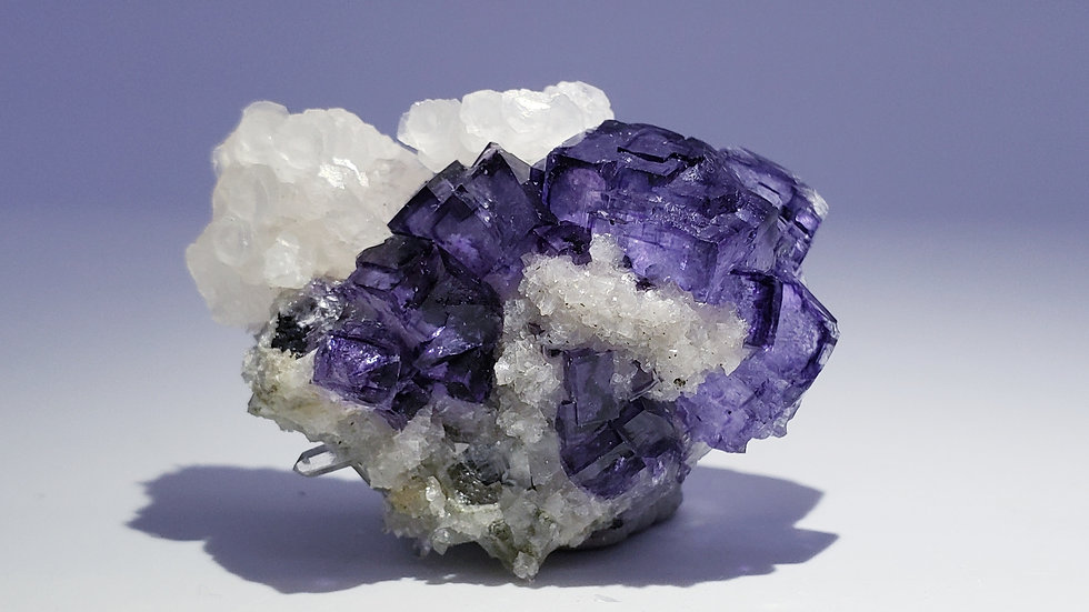 Phantom Fluorite with Wolframite, Calcite, Mica and Quartz from Yaogangxian Mine