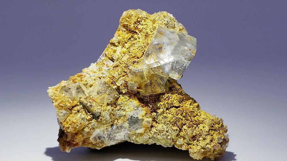 Fluorite on Matrix from Yaogangxian Mine, China