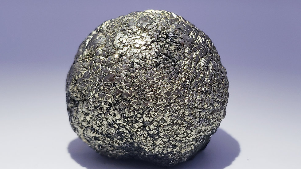 Golden Metallic Pyrite Ball from Daye Mine