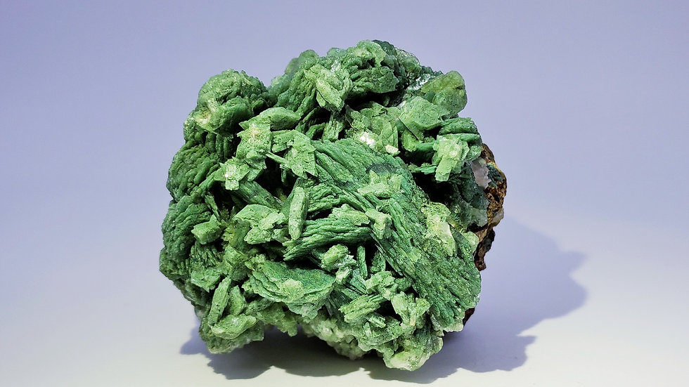 Green Celadonite Included Stilbite Cluster from Shakur Quarry, India