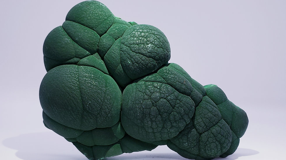 Collector's Piece: Botryoidal Malachite from L'Etoile du Congo Mine