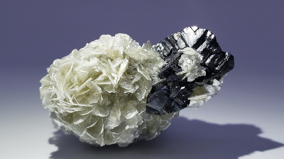 Cassiterite on Muscovite from Mt. Xuebaoding, Pingwu Co.