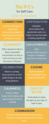 9 C's for Self-Care