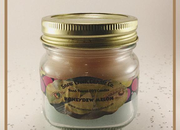 Honeydew Melon 8 oz. Mason Jar Candle