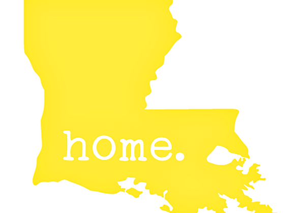 Louisiana With Embedded Home Vinyl Decal