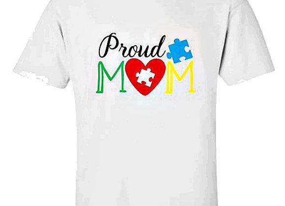 Proud Mom Autism Awareness Unisex T-Shirt