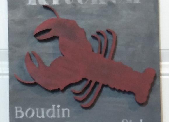 Louisiana Kitchen Rustic Wood Sign