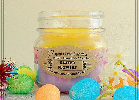 Easter Flowers 8 oz. Mason Jar Candle