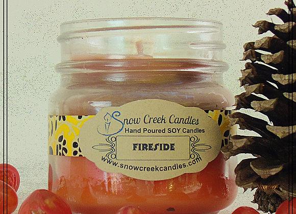 Fireside 8 oz. Mason Jar Candle