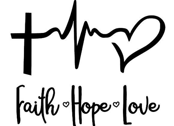 Faith Hope Love Vinyl Decal