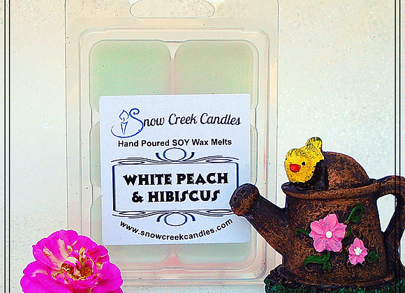 White Peach and Hibiscus 6 pk. Wax Melts