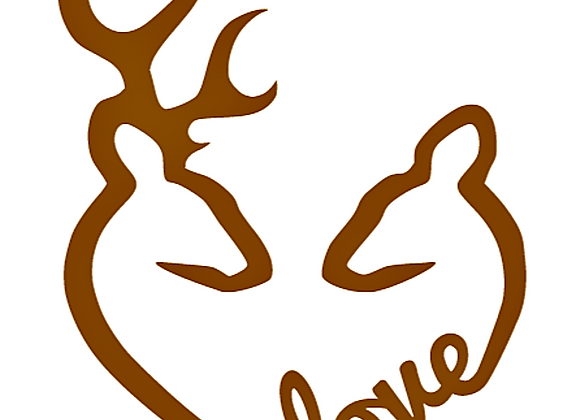 Deer Love Vinyl Decal