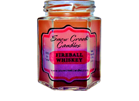 Fireball Whiskey Soy Candle