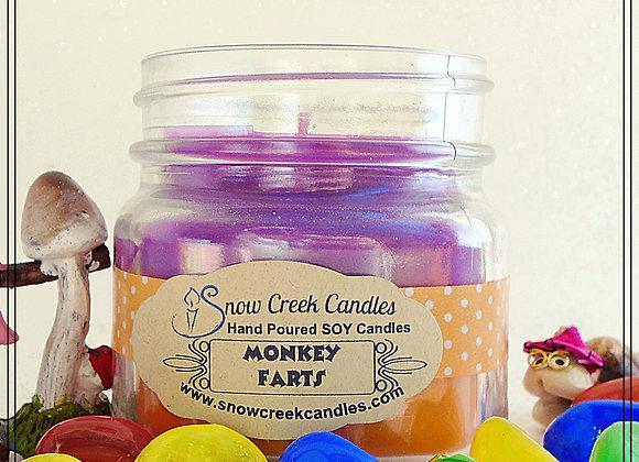 Monkey Farts 8 oz. Mason Jar Candle