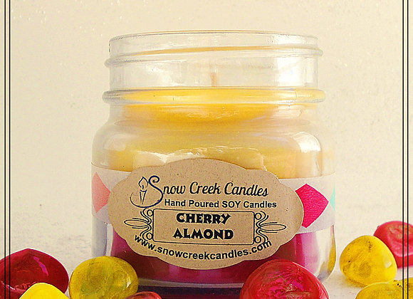 Cherry Almond 8 oz. Mason Jar Candle