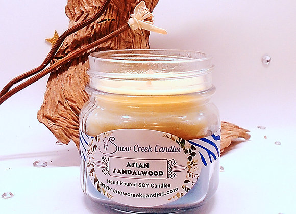 Asian Sandalwood 8 oz. Mason Jar Candle