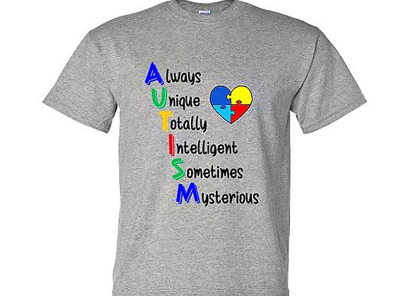 AUTISM Always Unique Autism Awareness Unisex T-Shirt