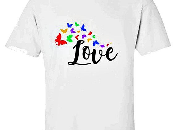 Love Butterflies Autism Awareness Unisex T-Shirt