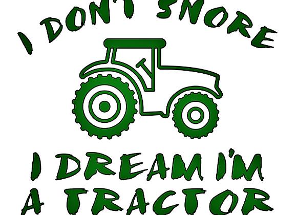 I Don't Snore Vinyl Decal