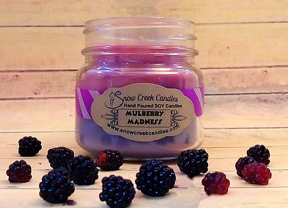 Mulberry Madness 8 oz. Mason Jar Candle