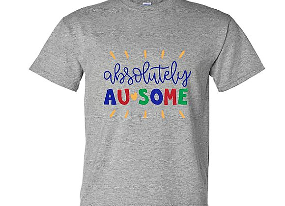 Absolutely Ausome Autism Awareness Unisex T-Shirt