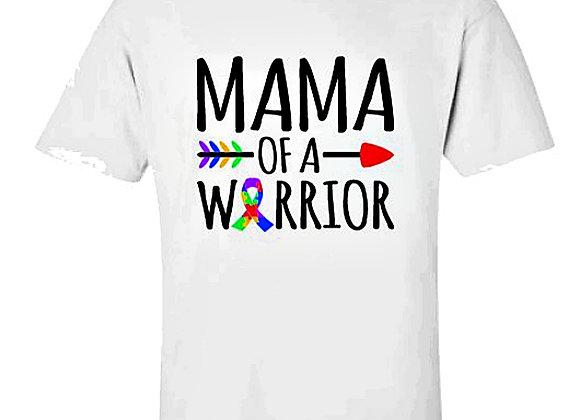 Mama Of A Warrior Autism Awareness Unisex T-Shirt