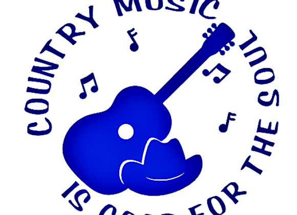 Country Music Is Good For The Soul Vinyl Decal