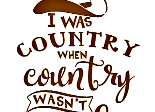 I Was Country When Country Wasn't Cool Vinyl Decal