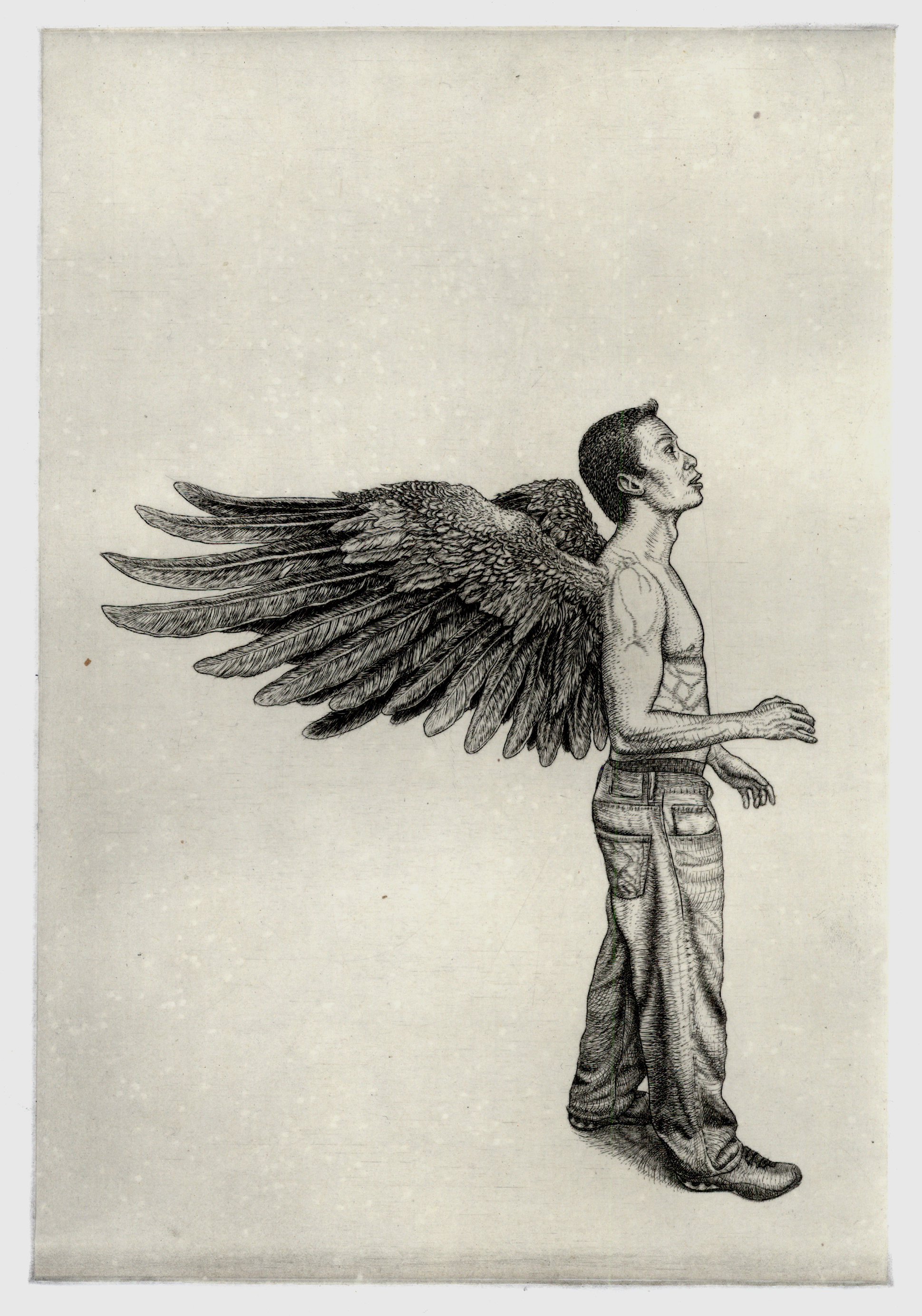 Self Portrait with Angel Wings