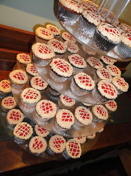 Cherry Wedding Cupcakes