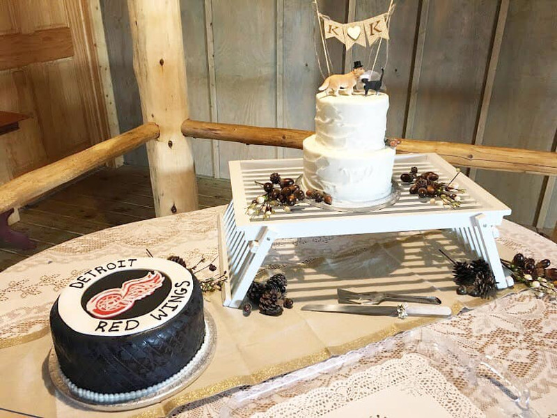 Wedding and Grooms cake