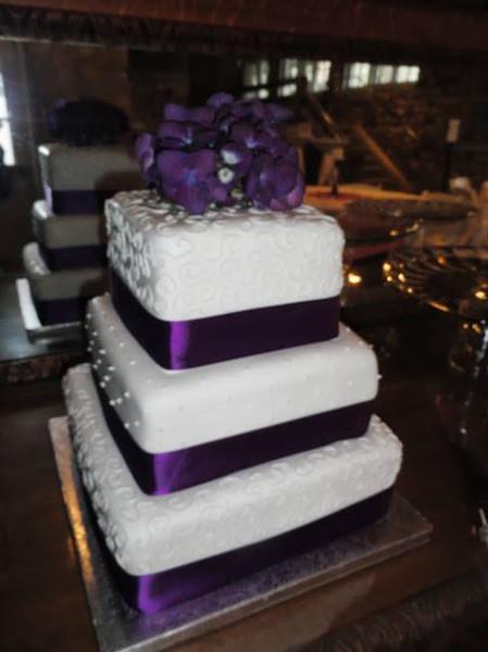 Purple accents cake