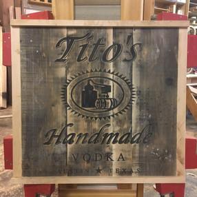 Tito's Vodka Sign
