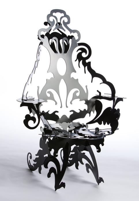 Laser Cut Metal Chair