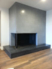 Concrete fireplace saratoga springs New York