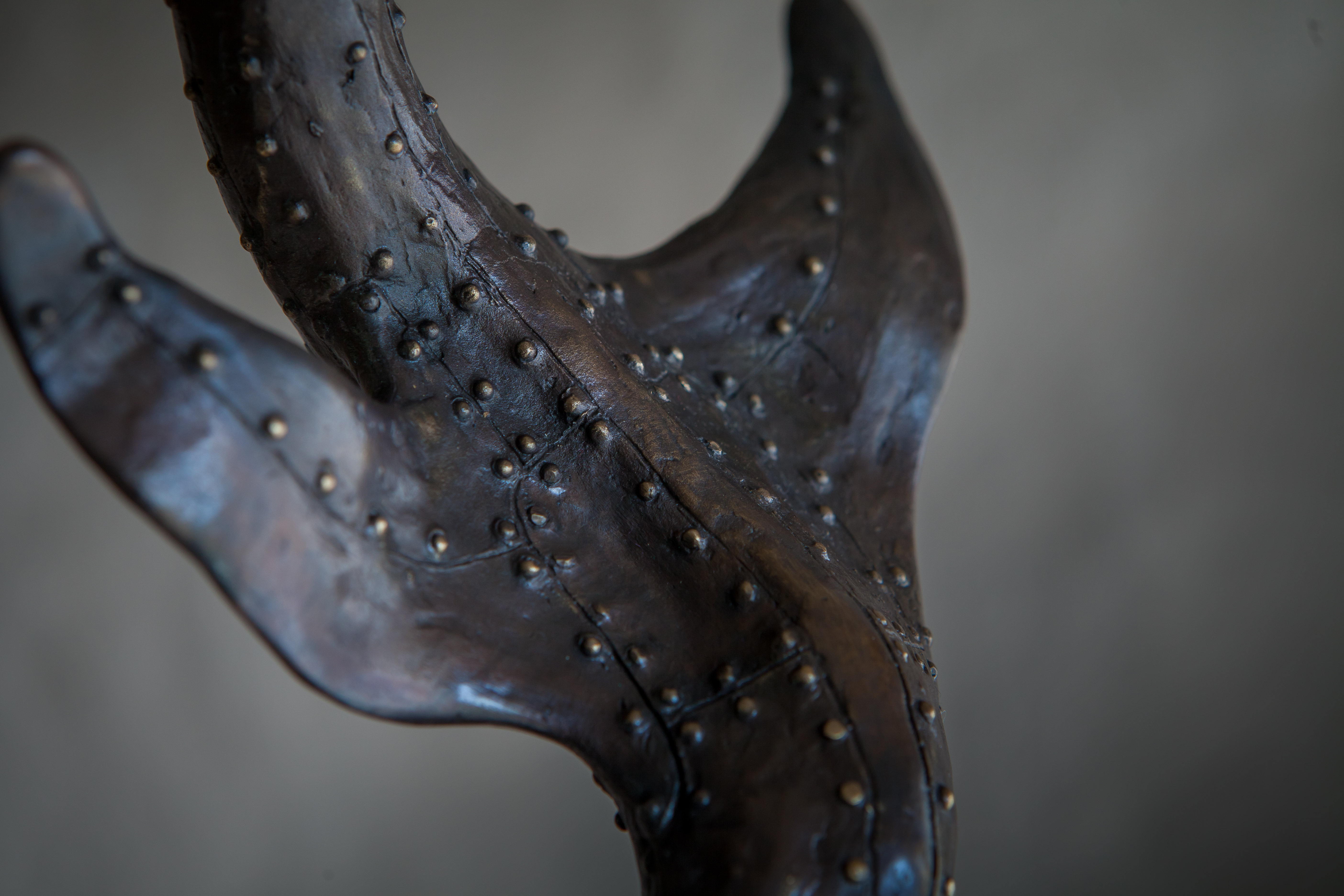 Bird Swallowing Fish - bronze-8621