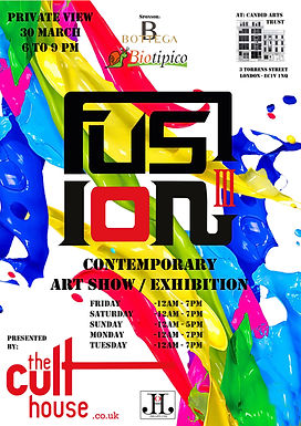 FUSION III - Group exhibition by The Cult House at The Candid Arts Trust, Islington
