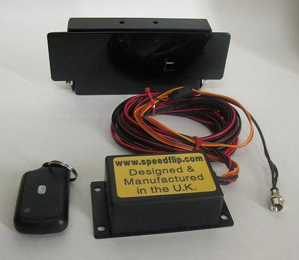 Single remote control flip plate