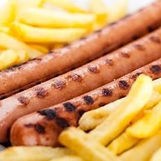 Saucisse knack (2) & frites