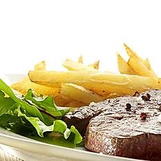 Le Steak de bœuf grillé, frites & salade