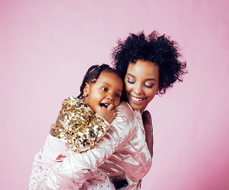 young pretty african-american mother wit