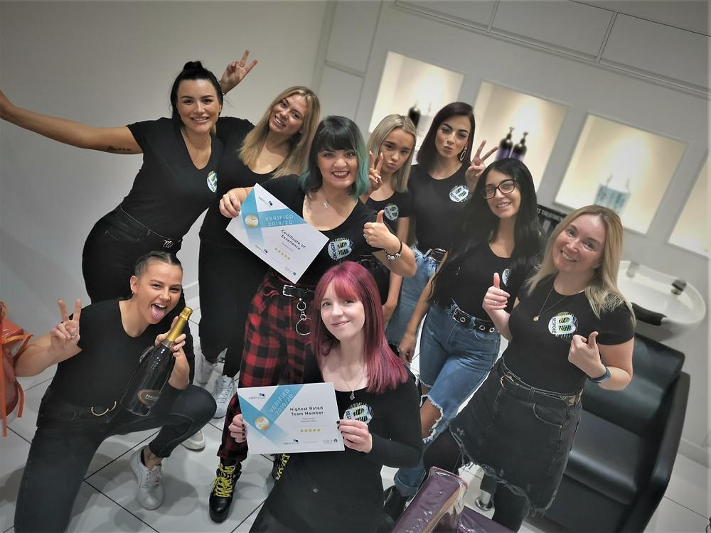 The Award Winning Team at Bespoke Salon Dunfermline