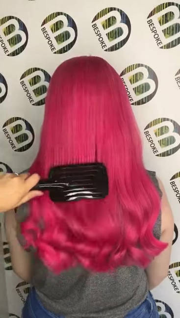 Pink Long Hair Colour Video