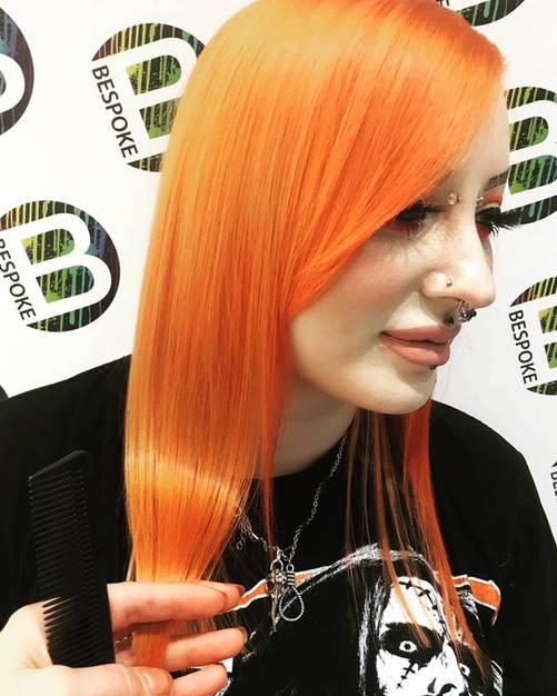 Bright Orange Hair Colour