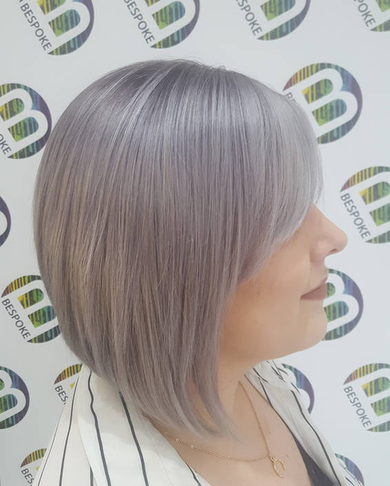 Silver Grey Hair Colour by Your Dunfermline Hair Stylists