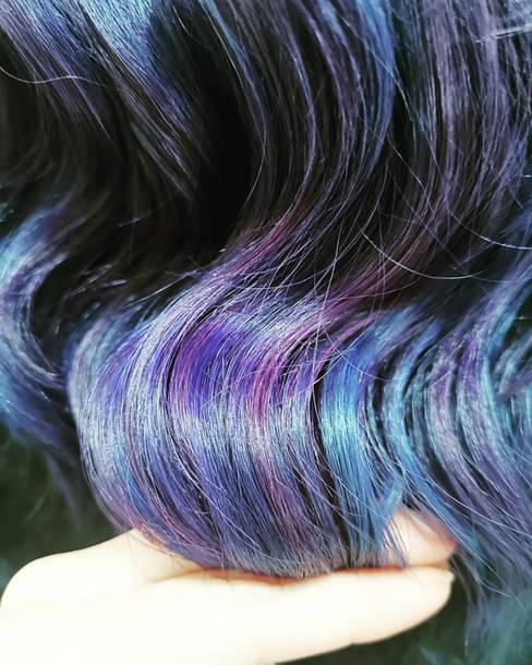 Close Up Galaxy Hair Colour at Bespoke Salon
