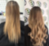 I-Tip Hair Extensions Before and After (